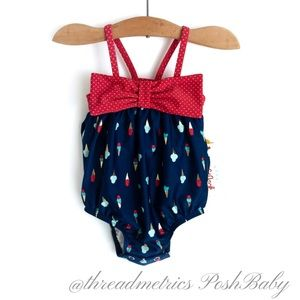 C A T & Jack • Ice Cream Cone Baby Swimsuit